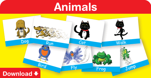 Download our free animals flash cards here!
