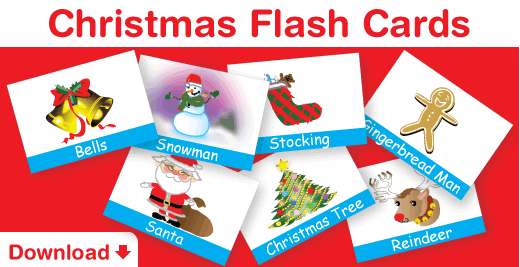Download free Christmas Flash Cards!