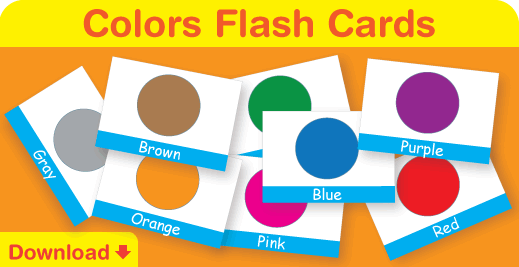 Download our free colors flash cards. Great for your classroom or at home!
