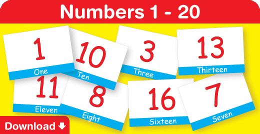 Number Names Worksheets printable numbers 1-20 : Numbers 1 - 20 - Fun Kids English : Fun Kids Songs, Fun Phonics ...