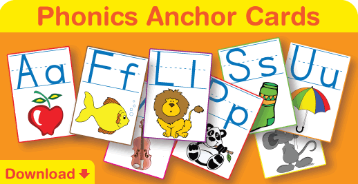 Click to download our phonics anchor posters and cards.