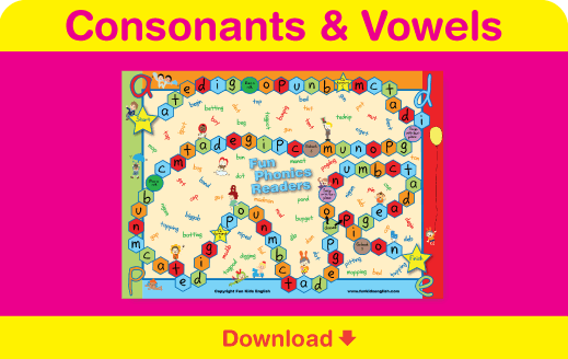 Download our consonants and vowels board game!