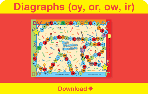 Click here to download the phonics board game.