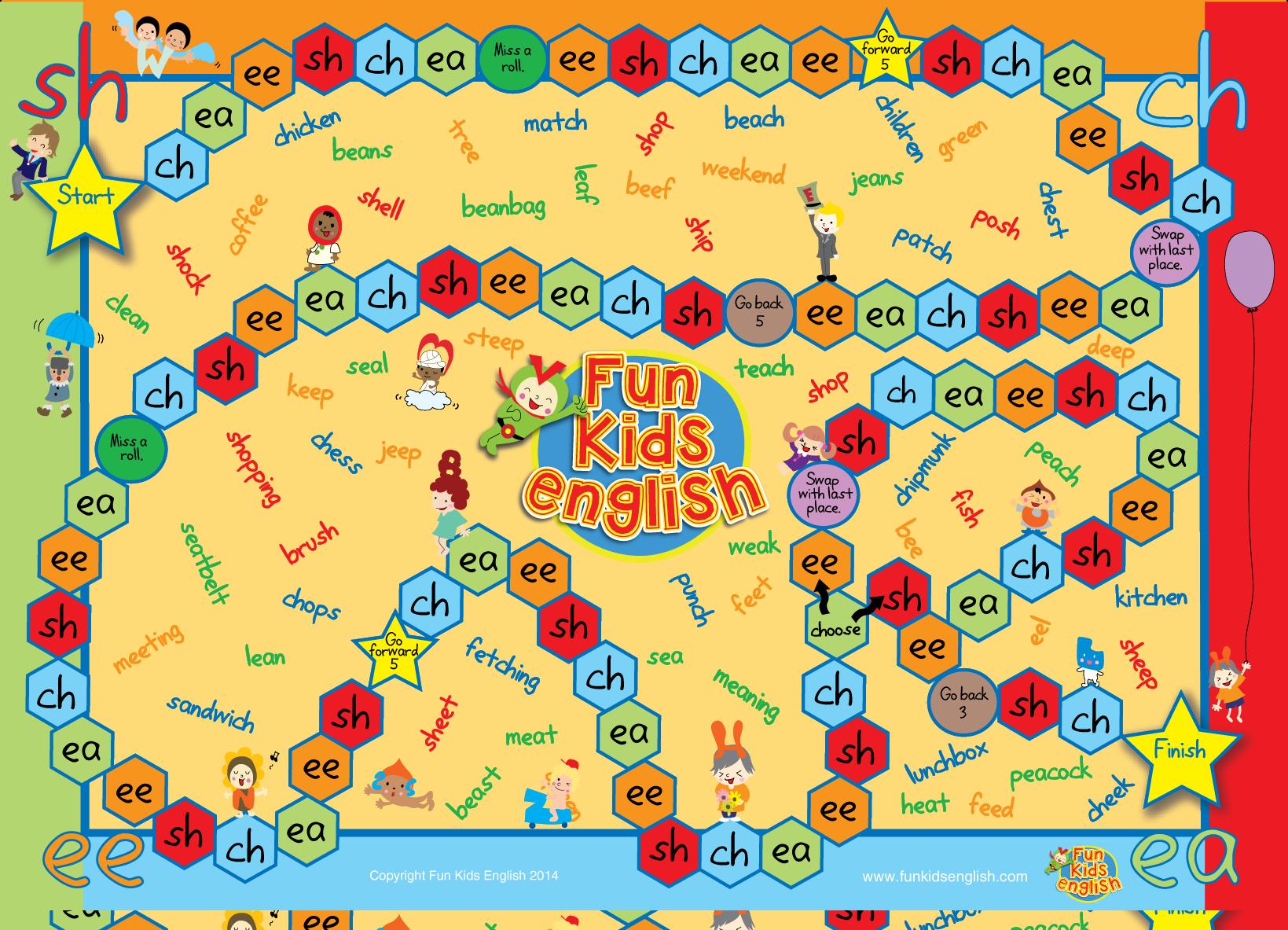 Free Phonics Board Games Children s Songs Children s Phonics