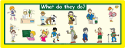 Occupations: 'What Do They Do?' Wall Poster
