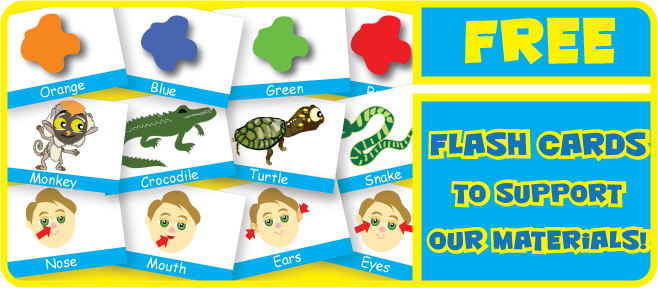 Download Free Flash Cards to use with our Materials!